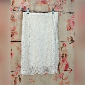 H&M Skirts - H&M Ivory Lace Pencil Skirt Size 4